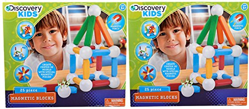 Discovery Kids 25 Piece Magnetic Blocks: 2-pack (Discovery Kids Building Blocks compare prices)