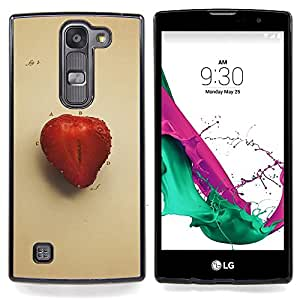"Qstar Arte & diseño plástico duro Fundas Cover Cubre Hard Case Cover para LG G4c Curve H522Y ( G4 MINI , NOT FOR LG G4 ) (Juicu fresa"")"