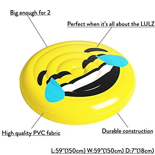 Floatie Kings LOL Emoji Flotador de Piscina - Balsa Inflable Gigante: Amazon.es: Juguetes y juegos