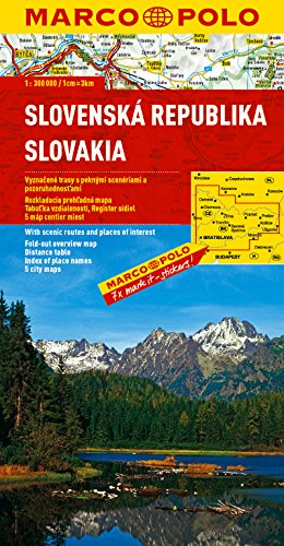 Slovakia Marco Polo Map (Marco Polo Atlases (Multilingual)) (French Edition)