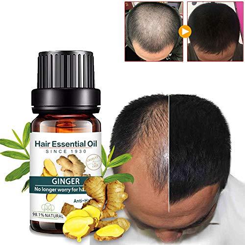 Kasien Hair Growth Liquid, Natural Ginger Hair Growth Essence liquid Fast Hair Growth Natural Hair Loss Treatment (3 Pcs) by Kasien (Image #5)