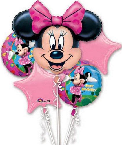 Disney Minnie Balloon Birthday Party Favor Supplies 5ct Foil Balloon Bouquet