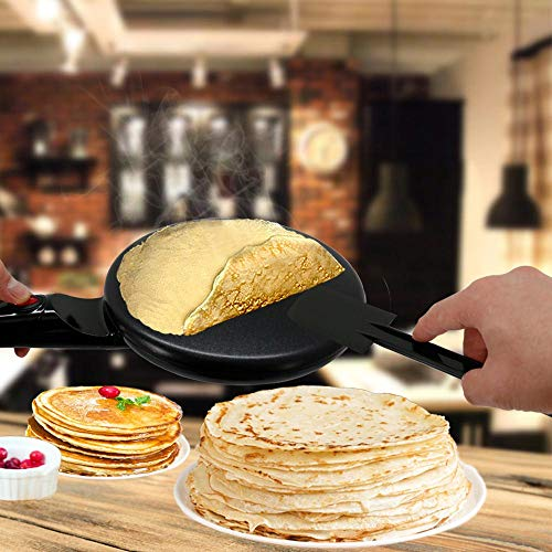 "NutriChef AZPKCRM08 Electric Griddle Crepe Maker Cooktop-Nonstick 8"" Pan Style Hot Plate with On/Off Switch, Automatic Temperature Control & Cool-Touch Handle, Food Bowl & Spatula Included, Black by NutriChef (Image #5)"
