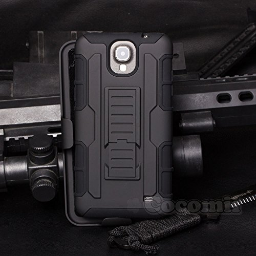 Galaxy Mega 2 Case, Cocomii Robot Armor NEW [Heavy Duty] Premium Belt Clip Holster Kickstand Shockproof Hard Bumper Shell [Military Defender] Full Body Dual Layer Rugged Cover Samsung G750 (Black)
