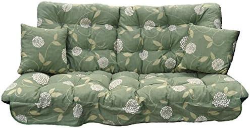 Juego de cojines de repuesto para sillón balancín de jardín de 3 plazas, color verde : Amazon.es: Jardín