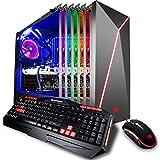 iBUYPOWER Ultra Gaming Desktop PC Slate 9200 Intel i7-8700K 3.7 GHz, NVIDIA Geforce GTX 1070 8GB, Z370 Motherboard, 16GB DDR4 RAM, 1TB HDD, 240GB SSD, Liquid Cooled, 802.11AC WiFi, Win 10 Home, VR Ready