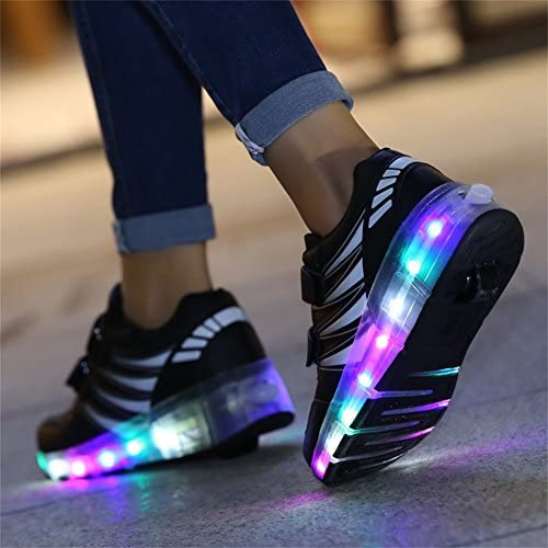 Ufatansy USB Charging Shoes Roller Shoes Girls Roller Skate Shoes Boys - 4