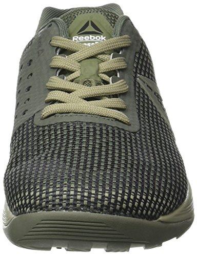 Reebok Crossfit Nano 7, Zapatillas Deportivas para Interior para Hombre Verde (Green/khaki/black/white)