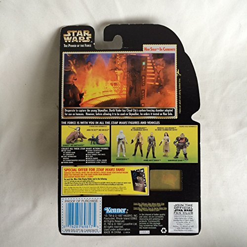 (Qiyun Star Wars POTF2 Han Solo in Carbonite Block with Freeze Frame Action Slide 1997 076281698175)
