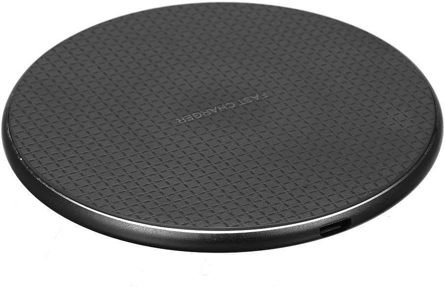 Gamogo 5/7.5 / 10W Cargador inalámbrico Aleación de Aluminio Flying Disk Pad de Carga rápida para Samsung Galaxy S9 / S9 Plus / S8 / S8 Plus/Note 9 / iPhone X/XS/XS MAX/XR