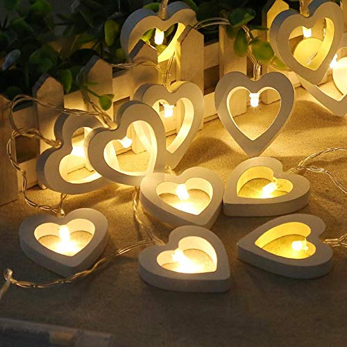 Wooden Heart Led Lights in US - 7