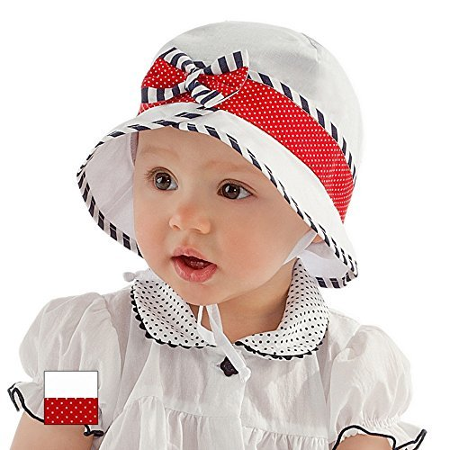 Girls Sun Hat Summer Beach Hat Holiday Cap Marine Collection 6 9 12 18 24 months 2-3 years NEW (44cm 6-9 mths) by For Kids -  6374692
