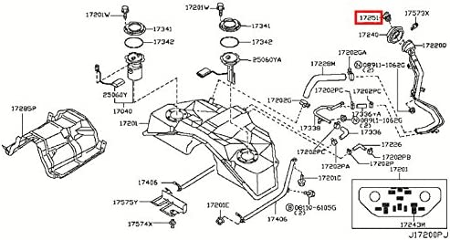 Fuel Tank Cap Infiniti 17251-79961