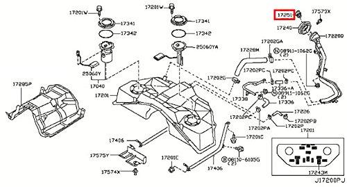 Infiniti 17251-AR201, Fuel Tank Cap Dakota Metal Intake System