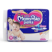 MamyPoko Extra Absorb Medium Size Baby Diapers (56 Count)