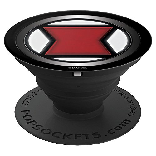 Marvel Black Widow Classic Symbol Icon - PopSockets Grip and Stand for Phones and Tablets