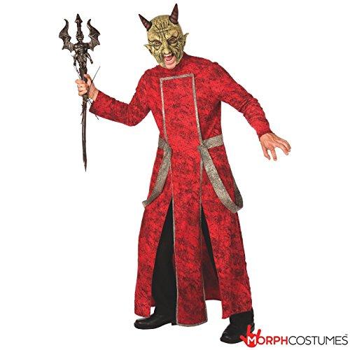 Mens Evil Satan Devil Fancy Dress Costume - 2 Piece Quality Costume (Devil Dress Up)