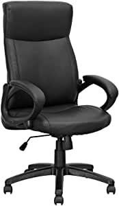 Need Ergonomic Office Chair Desk Chair PC Gaming Chair Computer Chair with Lumbar Support Arms Executive Rolling Swivel PU Leather Conference Chair for Women Men(Black)