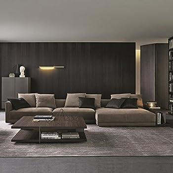 This Item Remsoft 4pcs Velvet Fabric Sectional Sofa Set Living Room With Loveseat Chaise Lounge And Long Side Shelf BONUS Ottoman 6