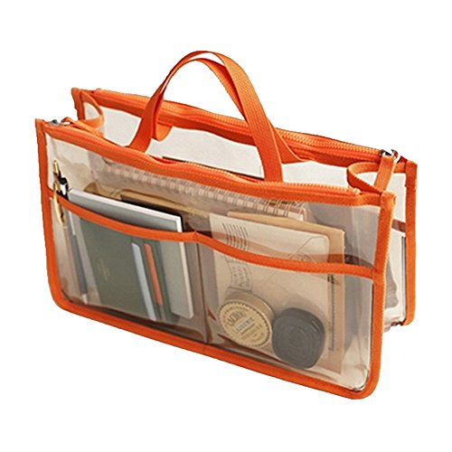 Transparent Waterproof Bag Thee Organizer Orange Coméstico Trip
