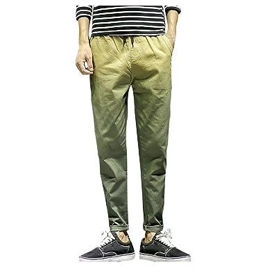 MXJEEIO Pantalones Largos Moda de Gran tamaño para Hombres de ...