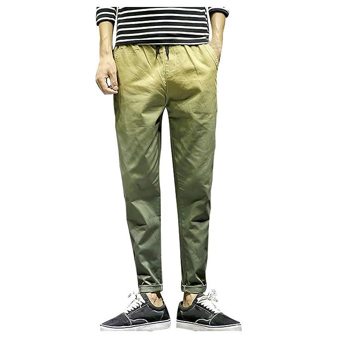 cinnamou Pantalones Hombre, Pantalones De HaréN Casual De ...