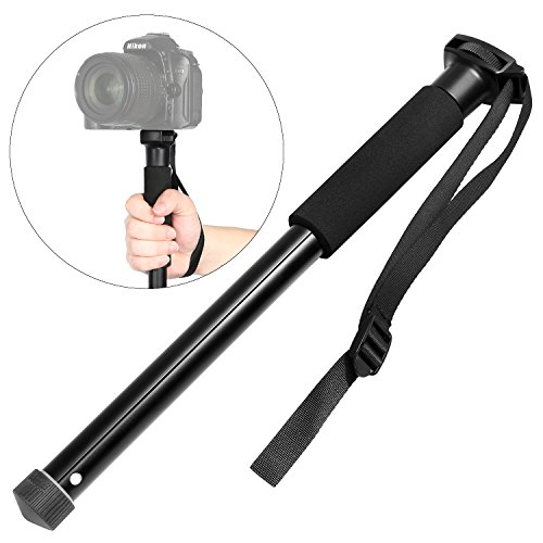 Crazefoto Photo 60-Inch Camera Monopod Alpenstock - Ultra Portable, Heavy Duty Design Compatible with Canon, Nikon and Sony by Crazefoto