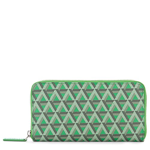 lancaster-paris-womens-11802vertpraine-green-cotton-wallet