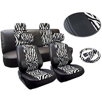 Amazon Com White Zebra Deluxe Leatherette 13pc Full Car
