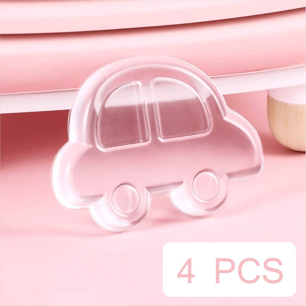 Door Stops Door Stopper Wall Protector-Clear,Quiet,Shock Absorbent Gel-Washable Reusable Anti-Collision Glue,Soft Silicone Color : D 4 PCS