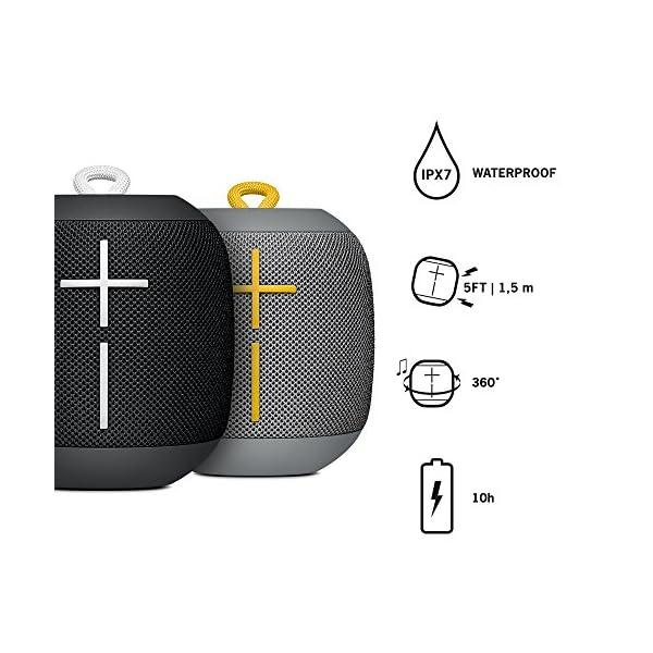 Ultimate Ears WONDERBOOM - Enceinte Bluetooth, Waterproof avec Connexion Double - Combo Noir et Gris 2