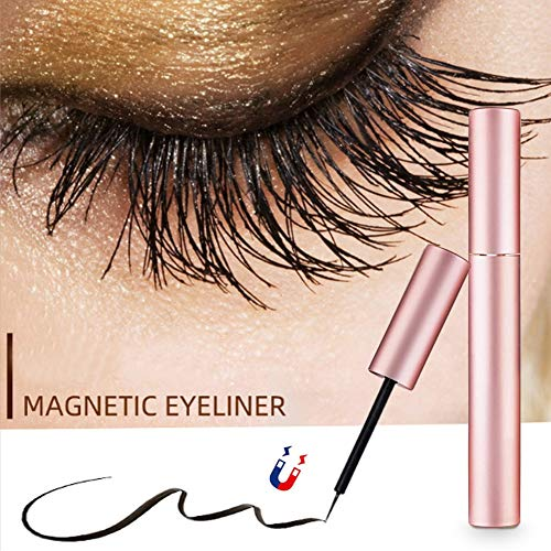 Magnetic Eyeliner Magnetic Eyeliner Liquid Liner Natural Look Waterproof and Smudge Resistant Use with Magnetic No Glue False Lashes Magnetic False Eyelashes (pink)