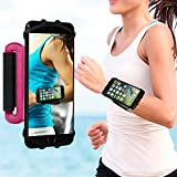 VUP Cell Phone Holder Wristband for iPhone X 7 8 6 6S Plus, Galaxy S8/S9 S7 180° Rotatable Universal for 4.0''-5.8'' Mobile Phone Running Armband (Magneta)