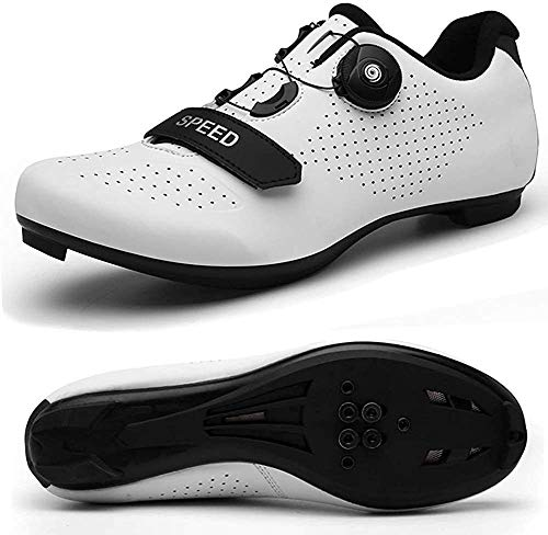 VIPBQO Heren Fietsschoenen Spin Shoestring met compatibele Cleat Peloton schoen met SPD en Delta voor mannen Lock Pedaal…