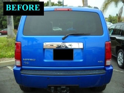2007 2011 Dodge Nitro Precut Chrome Trunk Tailgate Trim