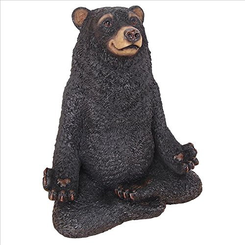 (Design Toscano QM16037 Zen Black Bear Statue, 8 Inch, Full Color)