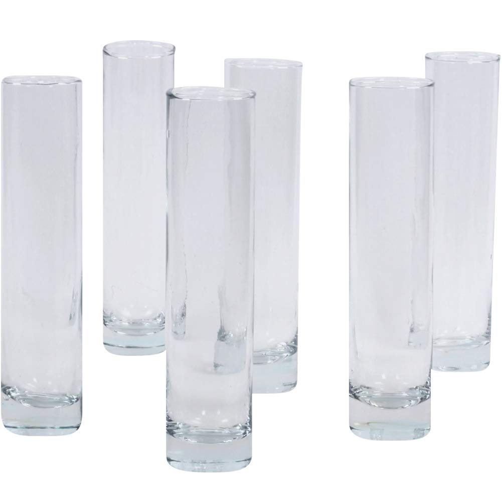 Koyal Wholesale 7.5 Inch Tall Clear Glass Cylinder Bud Vase Set of 6 Bulk Bud Flower Vases Holder Single Flower Wedding Centerpieces Arrangement ...  sc 1 st  Amazon.com & Amazon.com: Koyal Wholesale 7.5 Inch Tall Clear Glass Cylinder Bud ...
