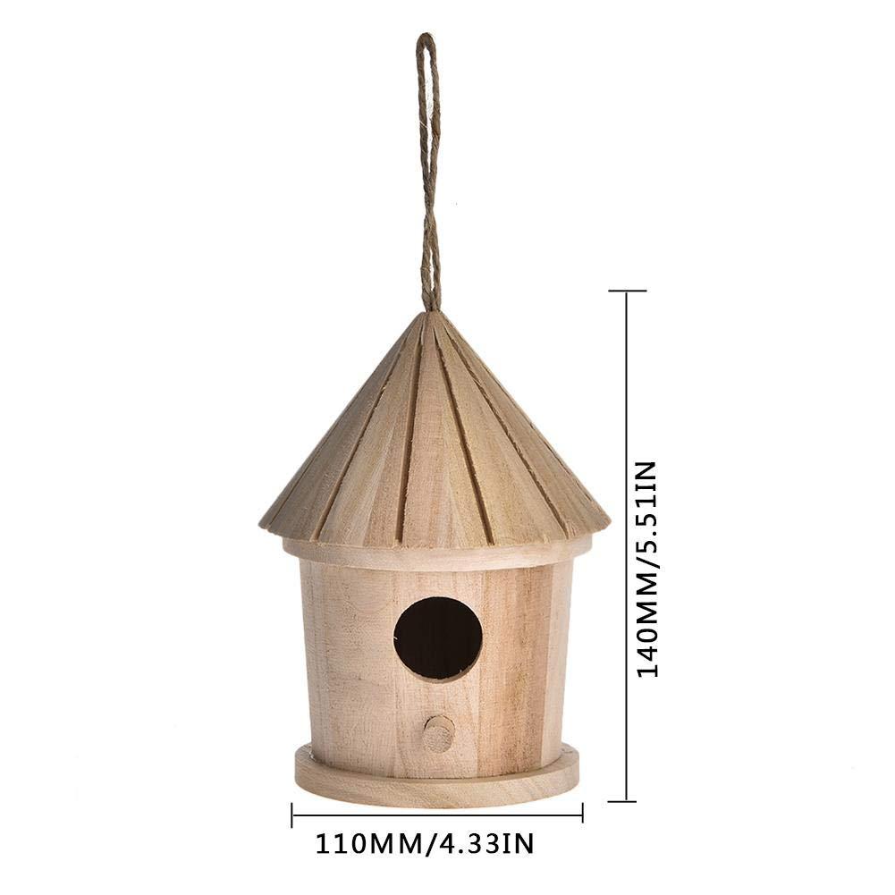 Juman634 DIY Maison d'oiseaux Respectueux De l'environnement Nid D'oiseau Suspendu en Plein Air Décoration de La Maison Jardinage Décoration Oiseau Vintage Boîte De Nid