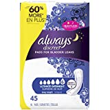 Always Discreet, Incontinence Pads, Ultimate Overnight, Long Length, 45 Count