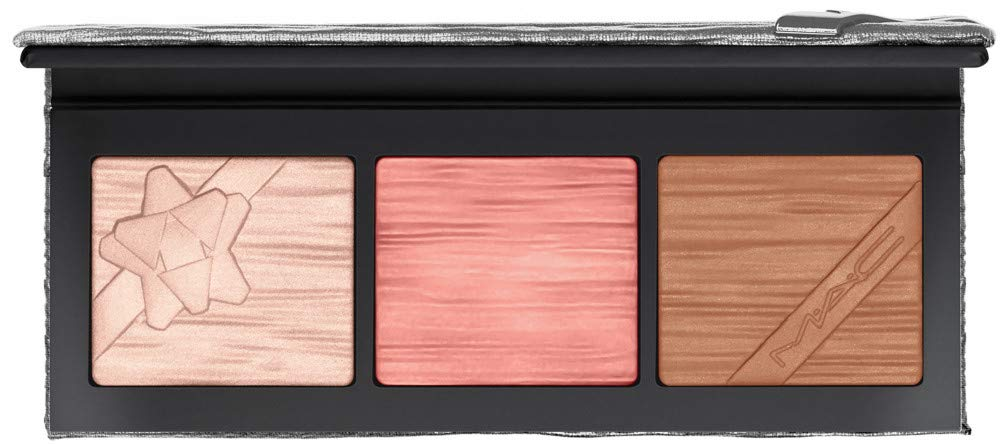 MAC Shiny Pretty Things Face Compact Palette, Fair, with Extra Dimension Skinfinish in String Lights, Extra Dimension Blush in Sweater Weather, Extra Dimension Bronzer in Five Alarm Kiss $63 Value!