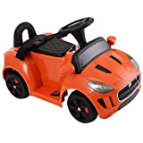 Orange Kids Ride On 6V Power Electric Car Battery MP3