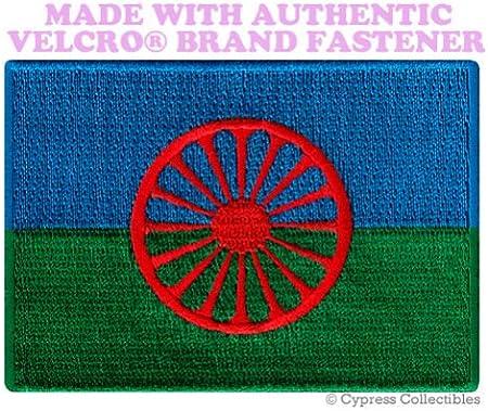 Bandera gitana romaní parche Europa bordado Souvenir W/VELCRO.: Amazon.es: Hogar
