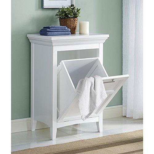 WYNDENHALL Hayes Laundry Hamper in White, 29.92 high x 20.47 wide x 14.96 deep