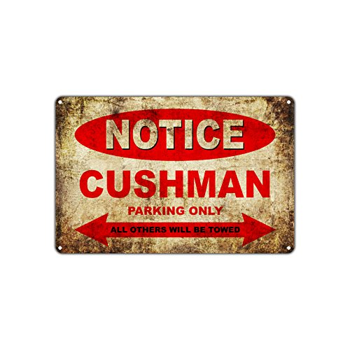 - CUSHMAN Motorcycles Bikes Only All Others Will Be Towed Parking Sign Vintage Retro Metal Decor Art Shop Man Cave Bar Aluminum 8