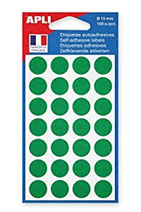 AGIPA Lot de 10 Sachets 168 pastilles de signalisation diam 15 mm Vert