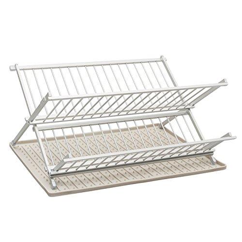 Ta Da Aluminum Folding Dish Rack with Silicone Drysmart Mat,