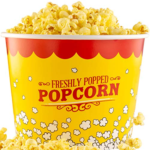 Premium Leak-Free 85 Oz Disposable Popcorn Tub 3pk By Avant Grub. Stackable Buckets With Fun Design. Great For Concession Stands, Carnivals, Fundraisers, School Events, Or Family Movie Nights.