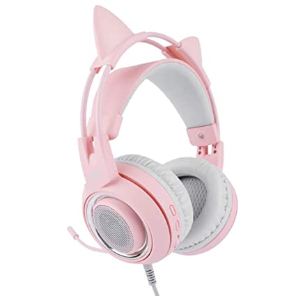 Gaming Auriculares, Over-Ear Gaming Auriculares con Micrófono, Bajo Estéreo Sonido Envolvente Control