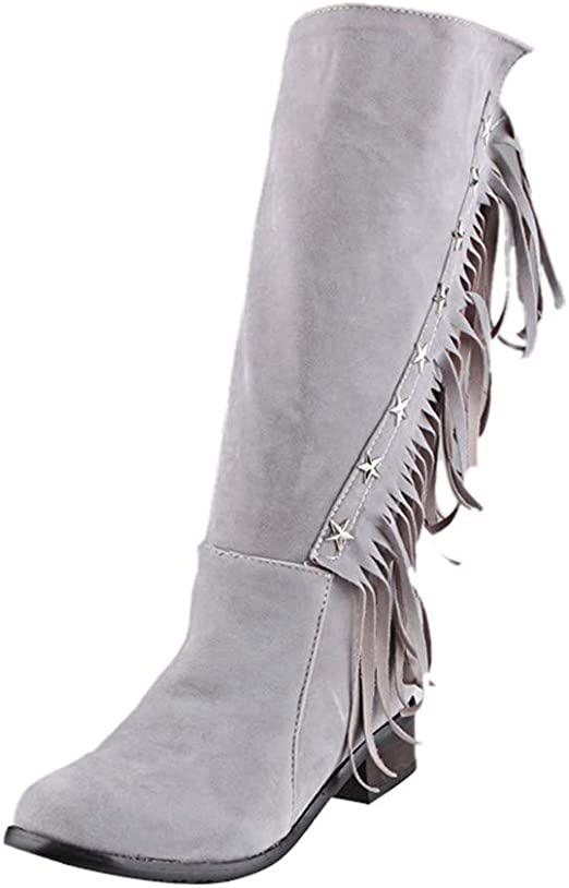 Pitashe Stiefeletten Damen Schuhe Stern Dekoration Quaste