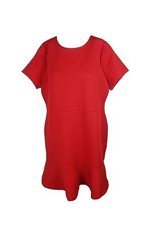 Michael Michael Kors Plus Size Red Flounce-Hem Fit & Flare ...